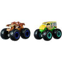 Mattel Hot Wheels Monster trucks demoliční duo Hotweiler VS Hound Hauler FYJ69