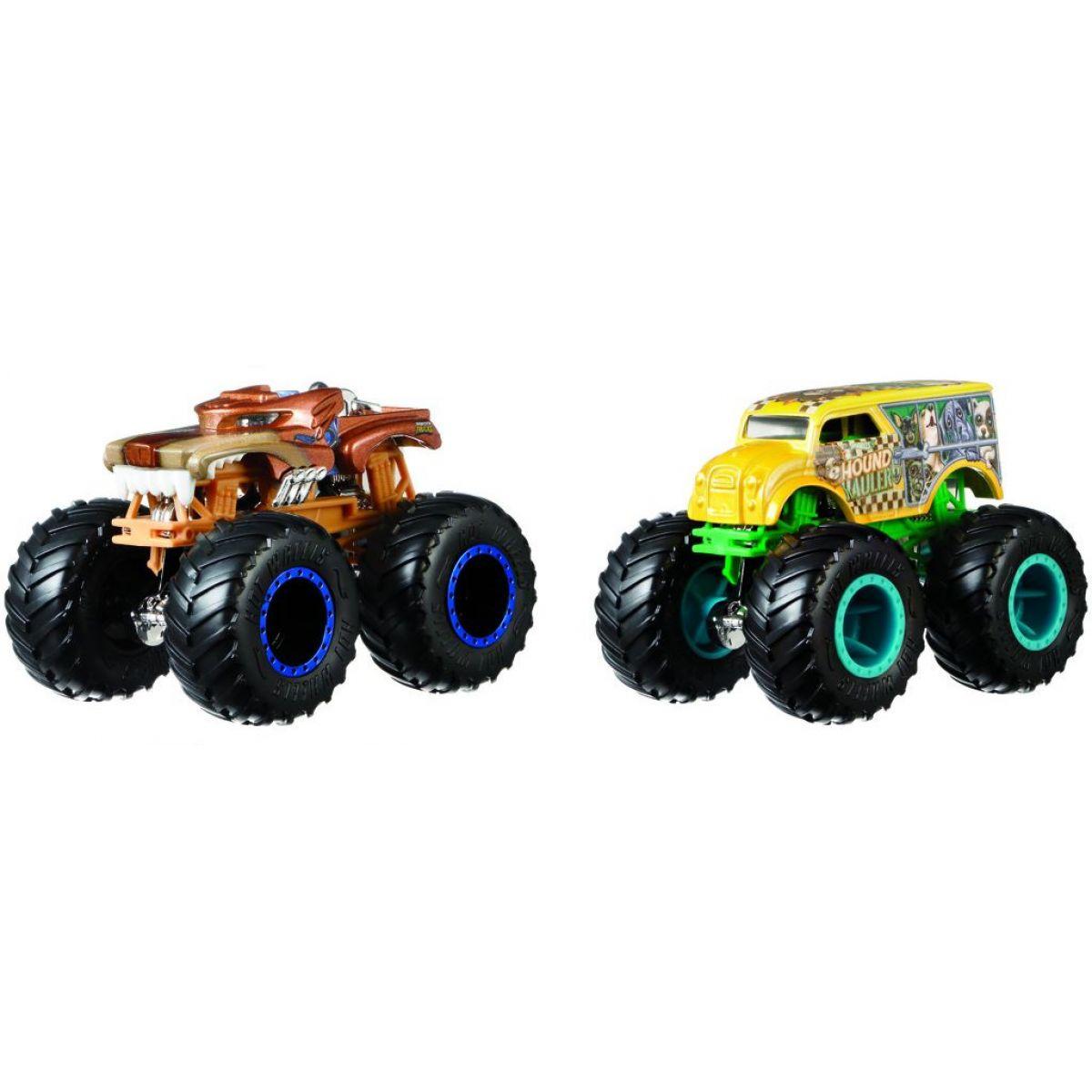 Mattel Hot Wheels Monster trucks demolačné duo Hotweiler VS Hound Hauler FYJ69
