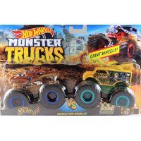Mattel Hot Wheels Monster trucks demolačné duo Hotweiler VS Hound Hauler FYJ69 2