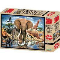 Prime 3D Puzzle Africká oáza 500 dielikov
