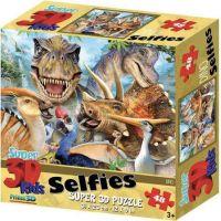 3D Puzzle Dino selfie 100 dielikov