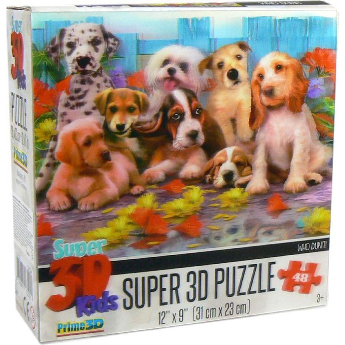 3D Puzzle Kids Psy 48 dielikov
