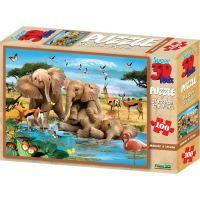 3D Puzzle Sloníčatá 100 dielikov