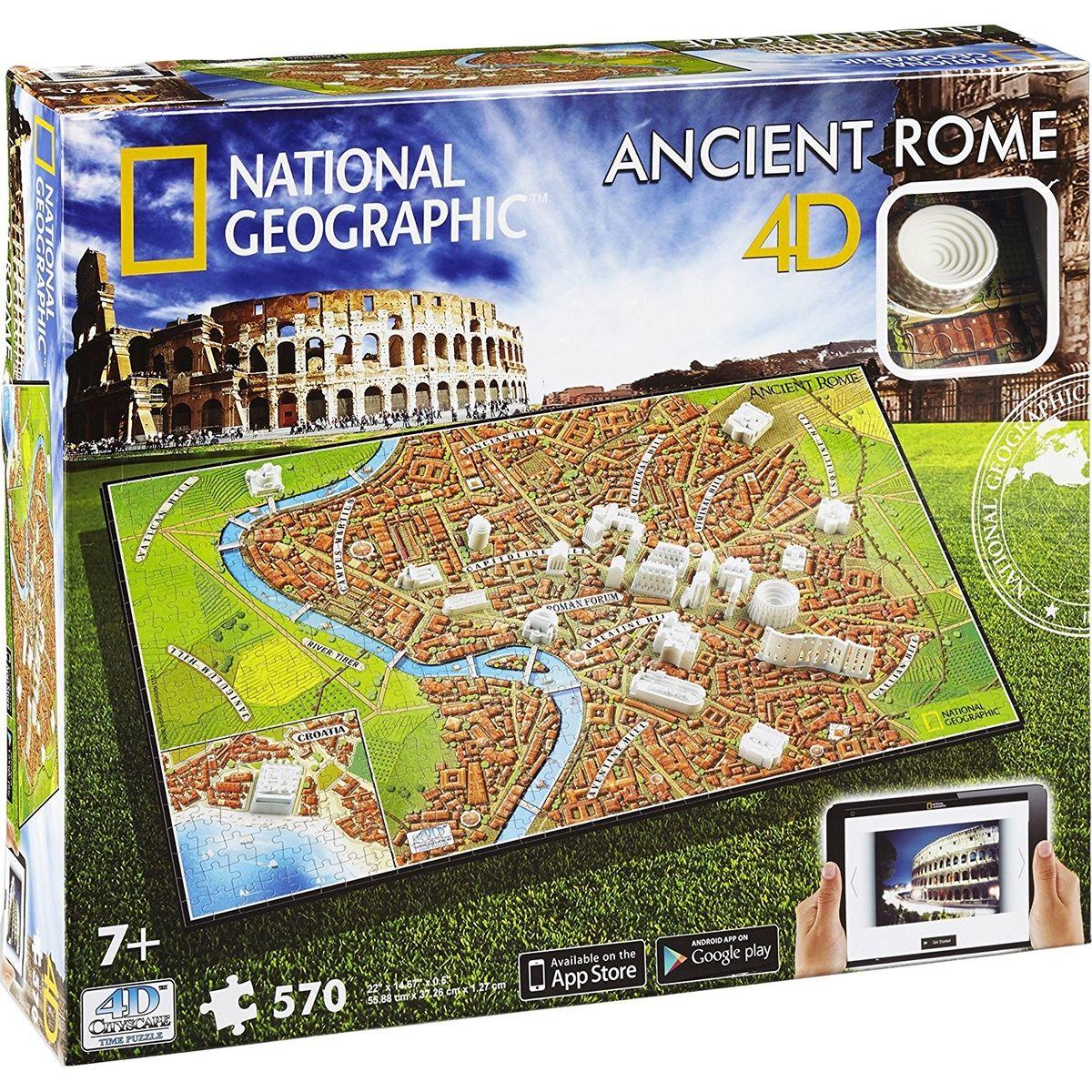 4D Cityscape puzzle National Geographic Staroveký Rím