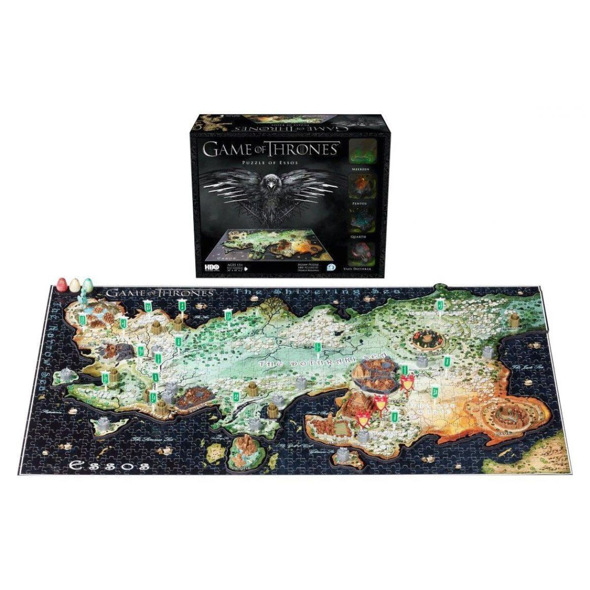 4D CITYSCAPE puzzle Hra o tróny Game of Thrones ESSO