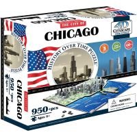 4D Cityscape puzzle Time Panorama Chicago 2