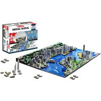 4D Cityscape puzzle Time panorama Hong Kong 2
