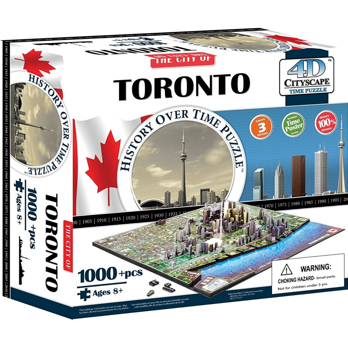 4D Cityscape puzzle Time Panorama Toronto