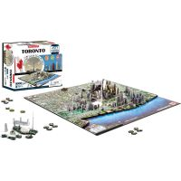 4D Cityscape puzzle Time Panorama Toronto 2