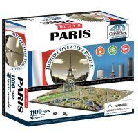 4D Cityscape puzzle Time panorama Paríž