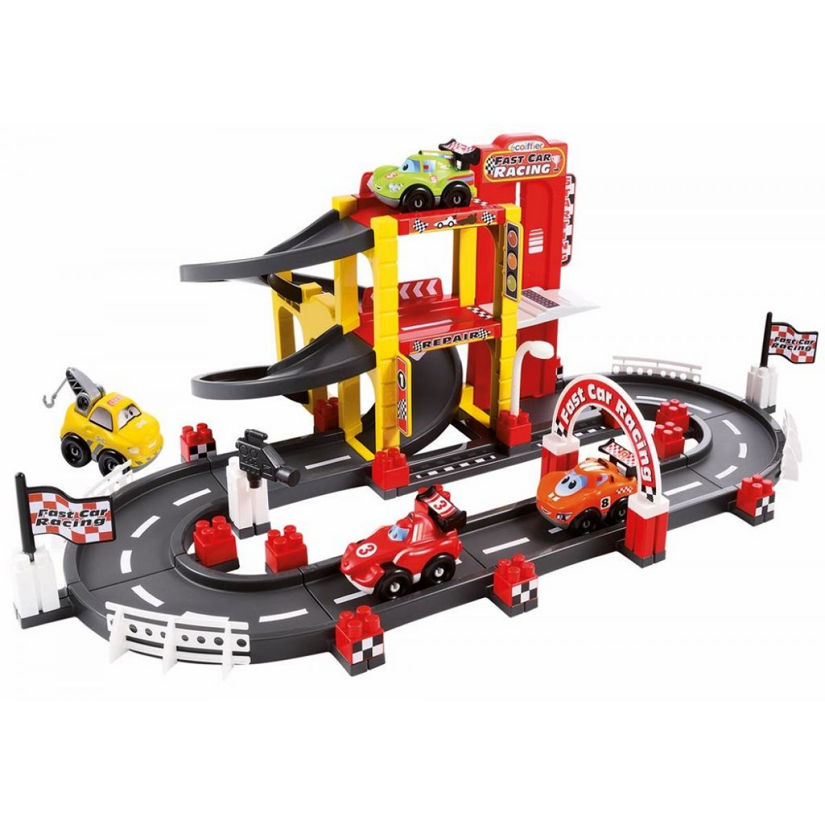 Abrick 3042 Závodný okruh s garážou