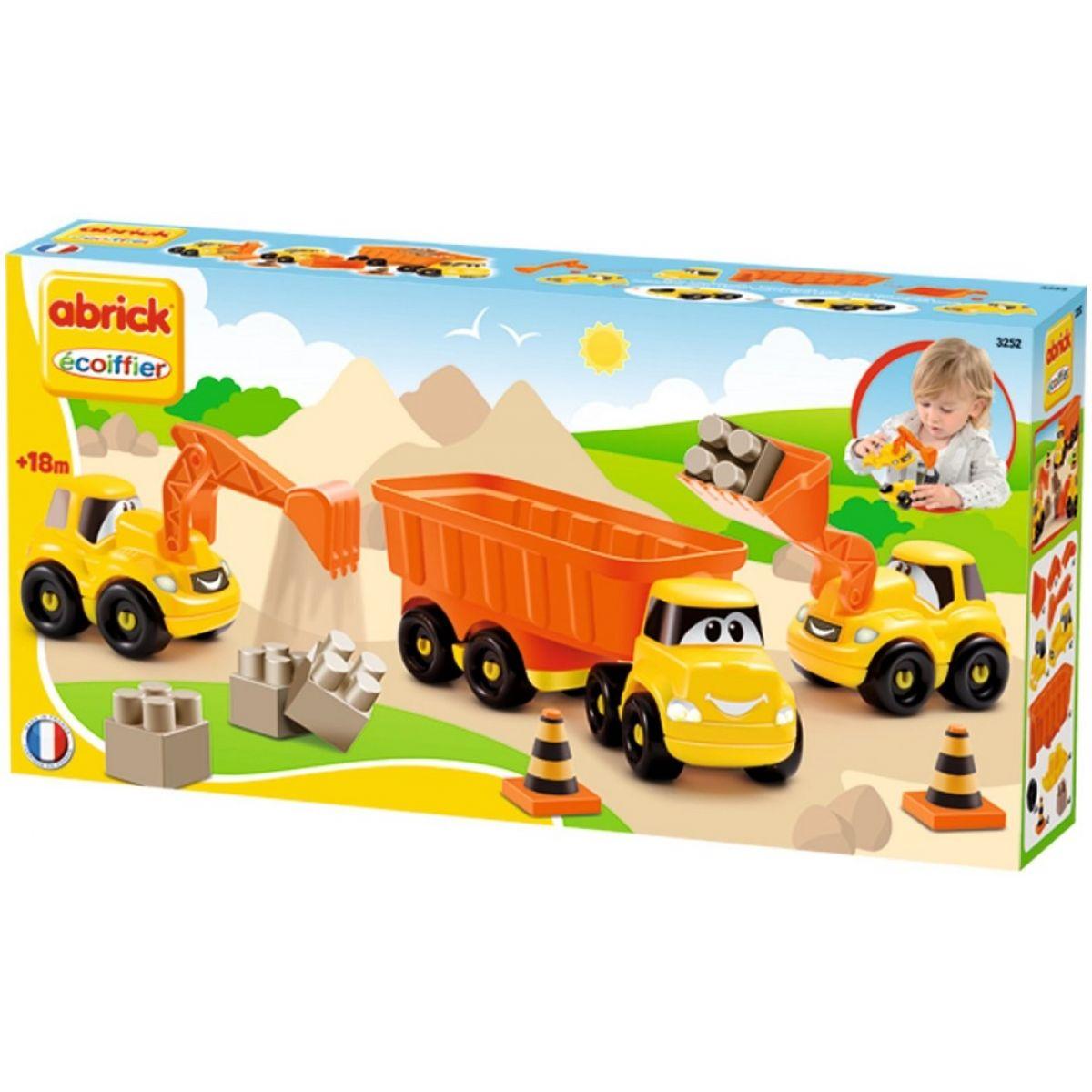 Ecoiffier stavebné autíčka Abrick 3252 oranžové