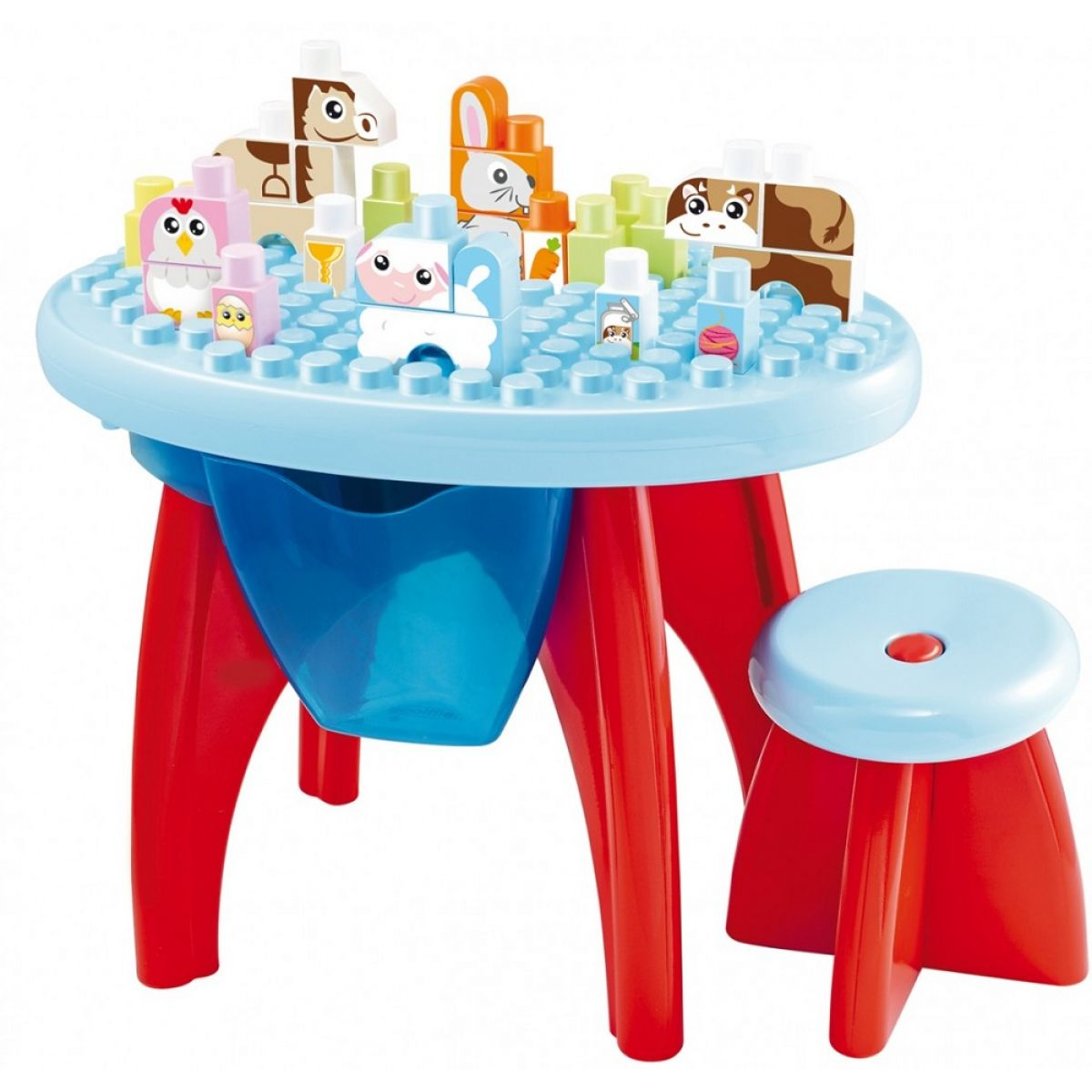 Abrick 7790 Maxi Stôl so stoličkou a kockami