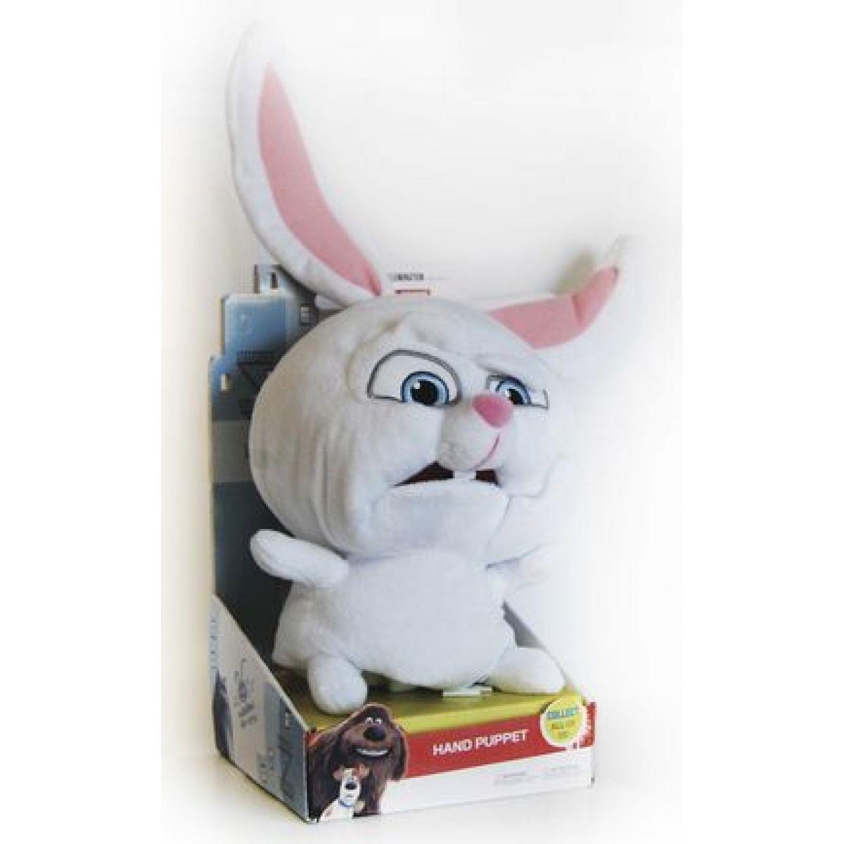 Plyšová hračka/maňásek Tajný život mazlíčků Snowball