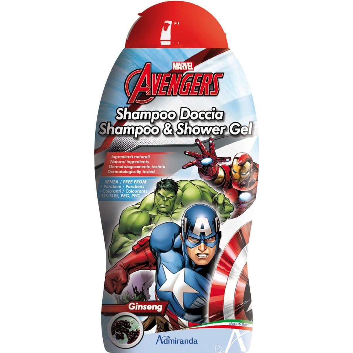 Marvel Avengers 2v1 sprchový gél a šampón na vlasy 250 ml