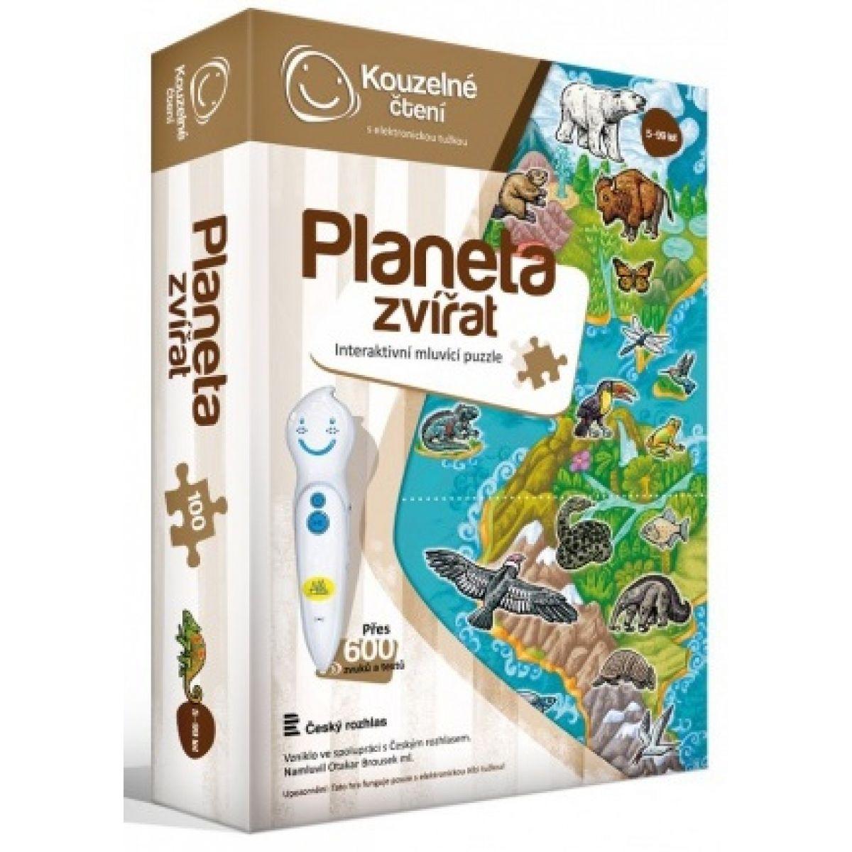 Albi Kúzelné čítanie Puzzle Planéta zvierat