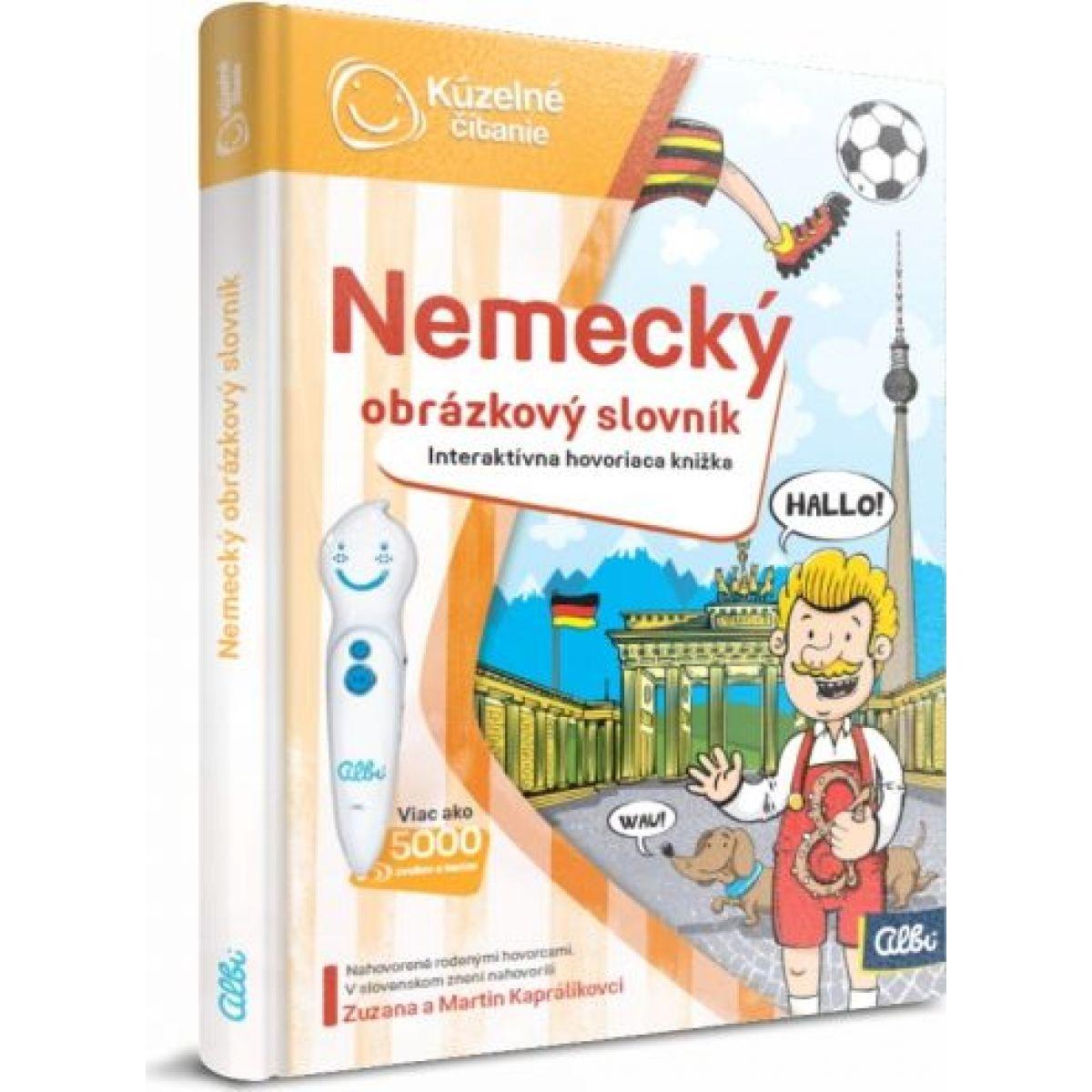 Kúzelné čítanie Kniha Nemecký obrázkový slovník SK