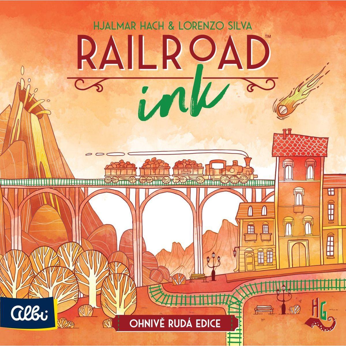 Albi Railroad Ink Ohnivo červená edícia