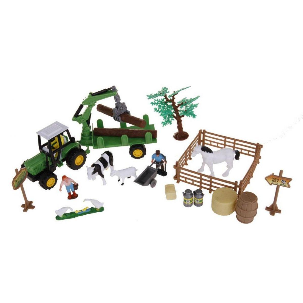Alltoys Farmársky set v kufríku valník na drevo