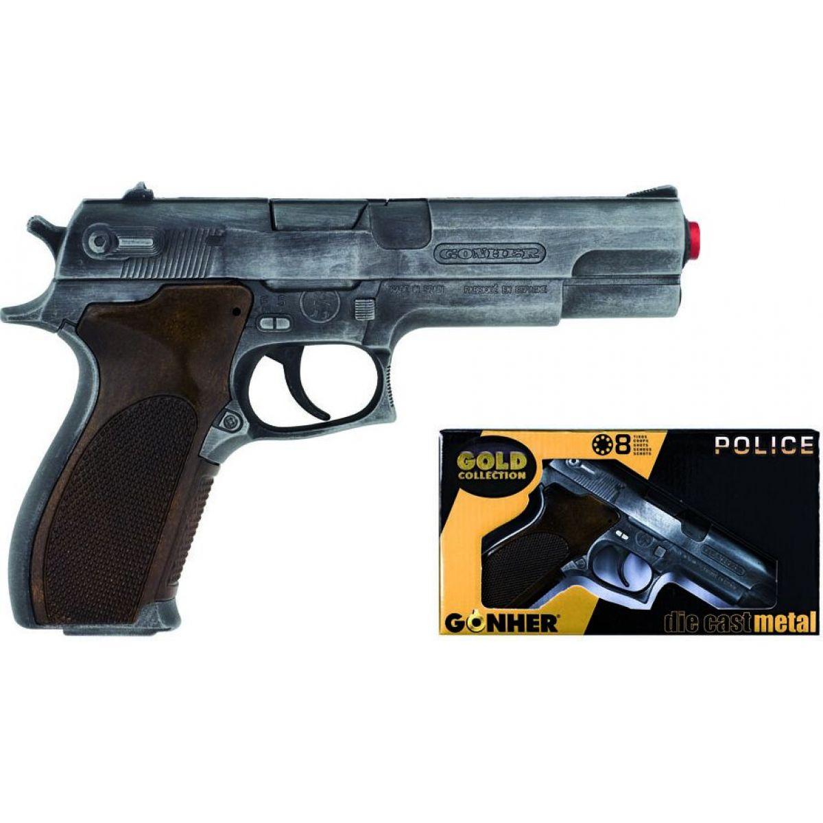 Alltoys policajná pištoľ Gold