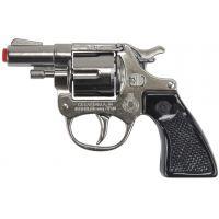 Alltoys policajný revolver kovový strieborný 8 rán