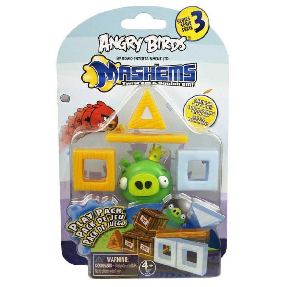 EP Line Angry Birds Mash´Ems Hrací sada Prase zelené s korunkou