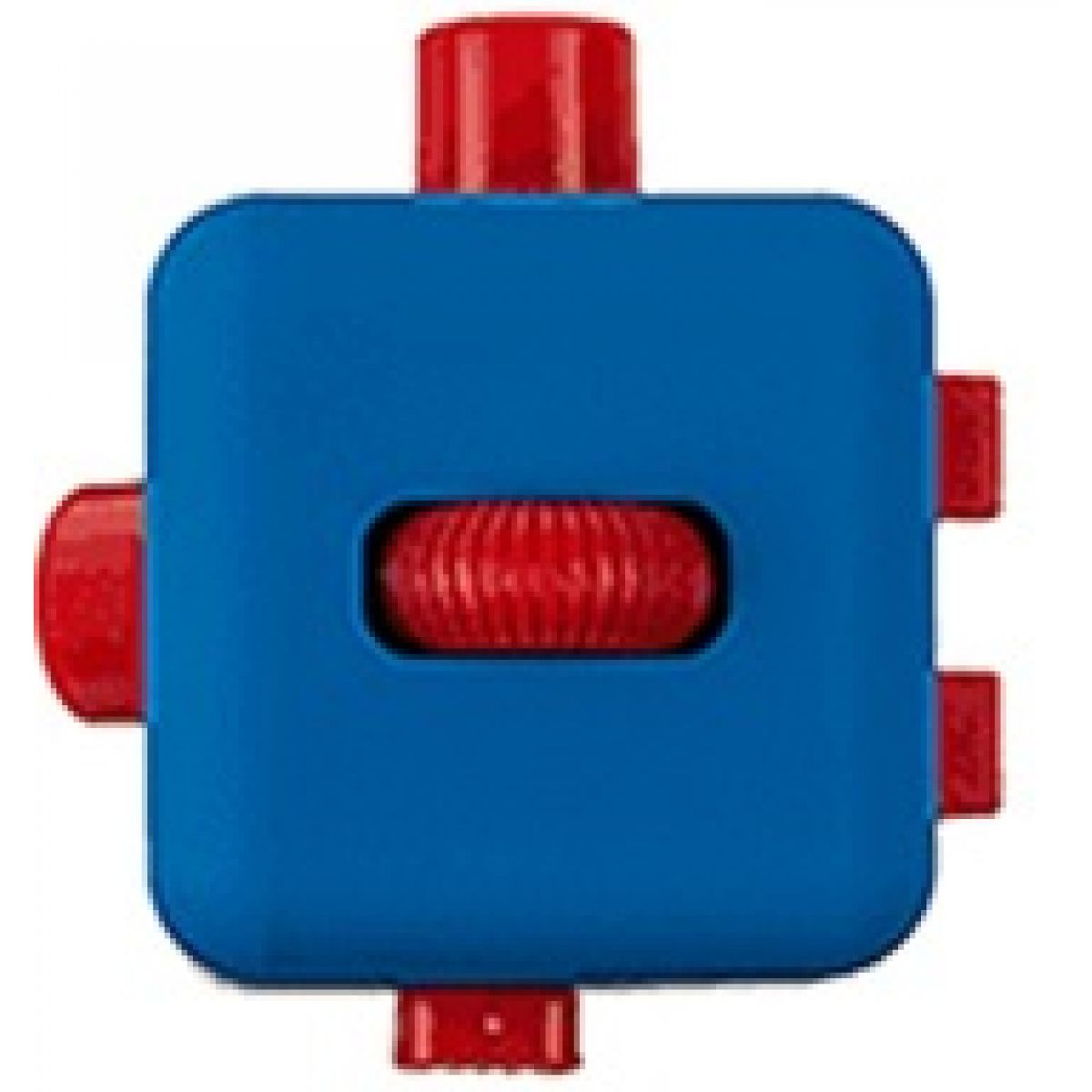 Antistresová kostička Fingr modročervená