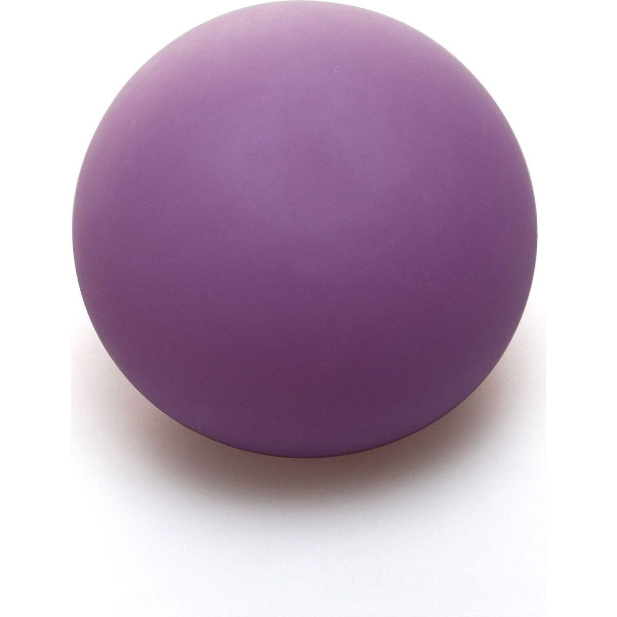 Antistresový loptička 6,5 cm svietiace v tme fialový