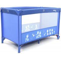 Asalvo Cestovná postieľka Basic giraffes blue