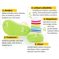 Detské topánočky ATTIPAS Rainbow Green 4