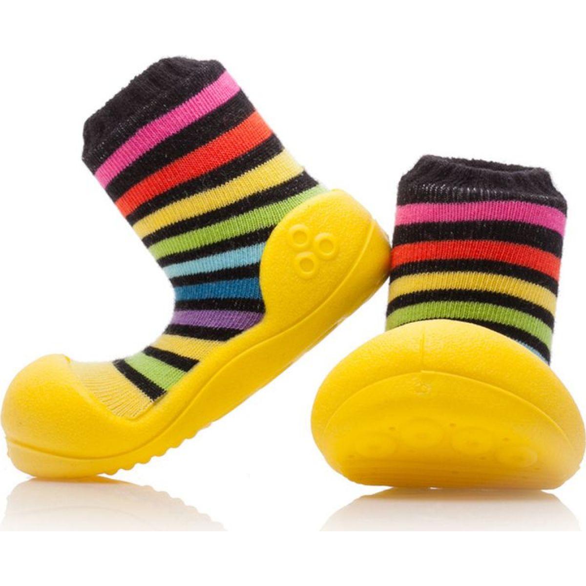 Detské topánočky ATTIPAS Rainbow Yellow