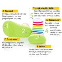 Detské topánočky ATTIPAS Rainbow Yellow 4