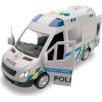 Auto policajné dodávka, na zotrvačník so zvukom