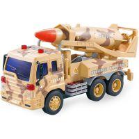 Auto vojenské so zvukmi a raketou
