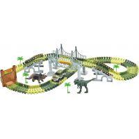 Autodráha svietiaca Dino na batérie