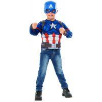 Rubie's Avengers Infinity War Captain America kostým triko s vypchávkami a maska