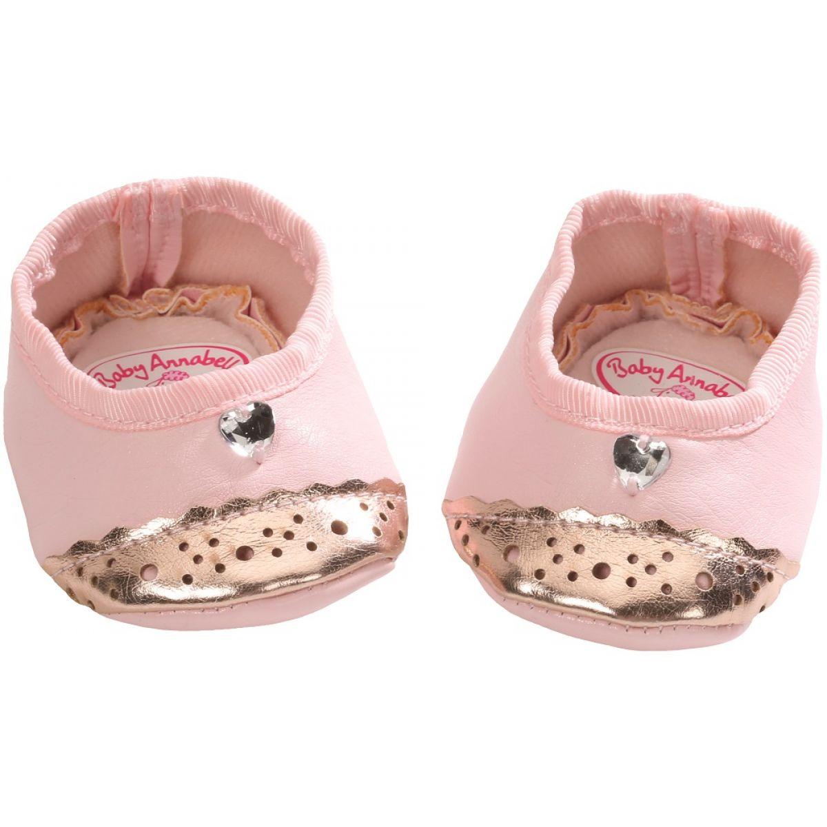 Baby Annabell Topánočky 794579 - Ružové so srdiečkom