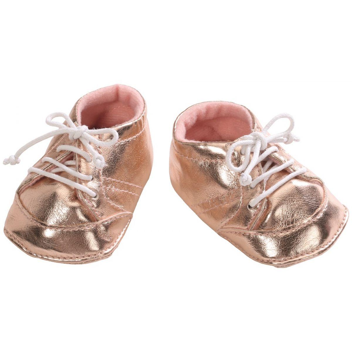 Baby Annabell Topánočky 794579 - Zlaté so šnúrkou