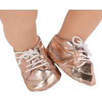 Baby Annabell Topánočky 794579 - Zlaté so šnúrkou 2