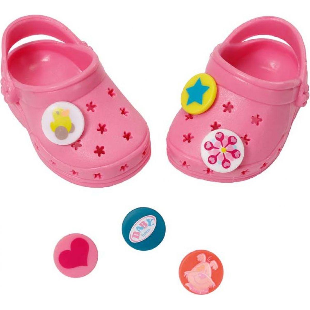 Baby Born Gumené sandále - Ružová svetlá