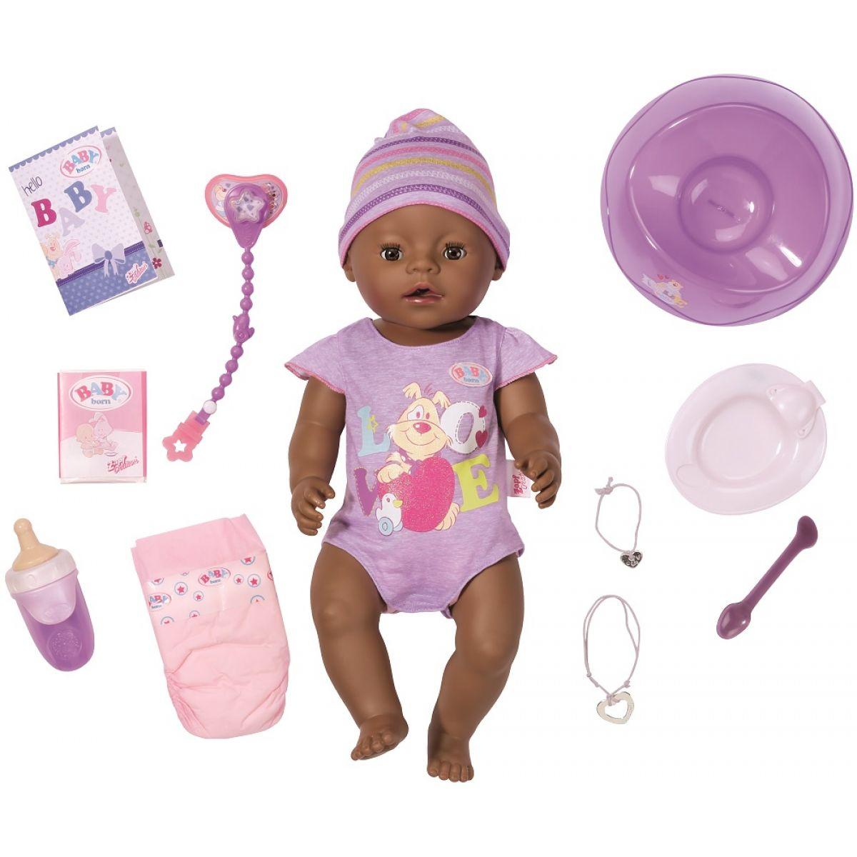 Baby Born Interaktívna bábika černoško