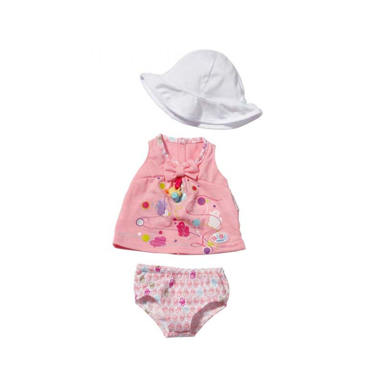 Baby Born Šaty s klobúčikom - Biela čiapočka