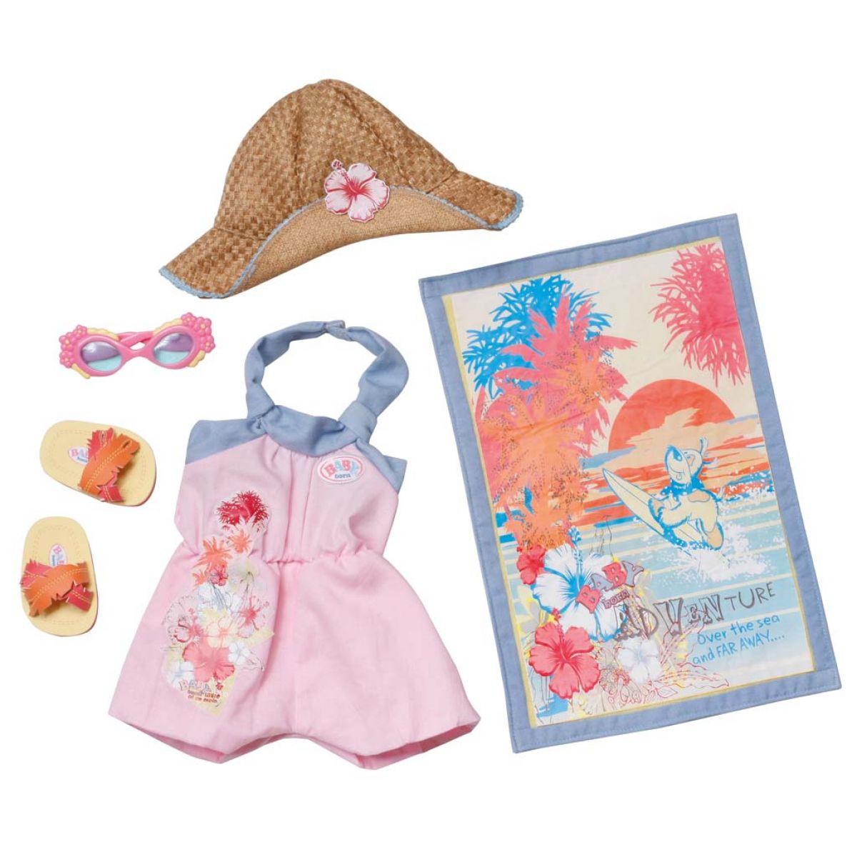 Baby Born Súprava plážového oblečenia - Ružová