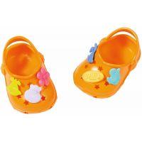 Baby Born Gumové sandály Oranžová