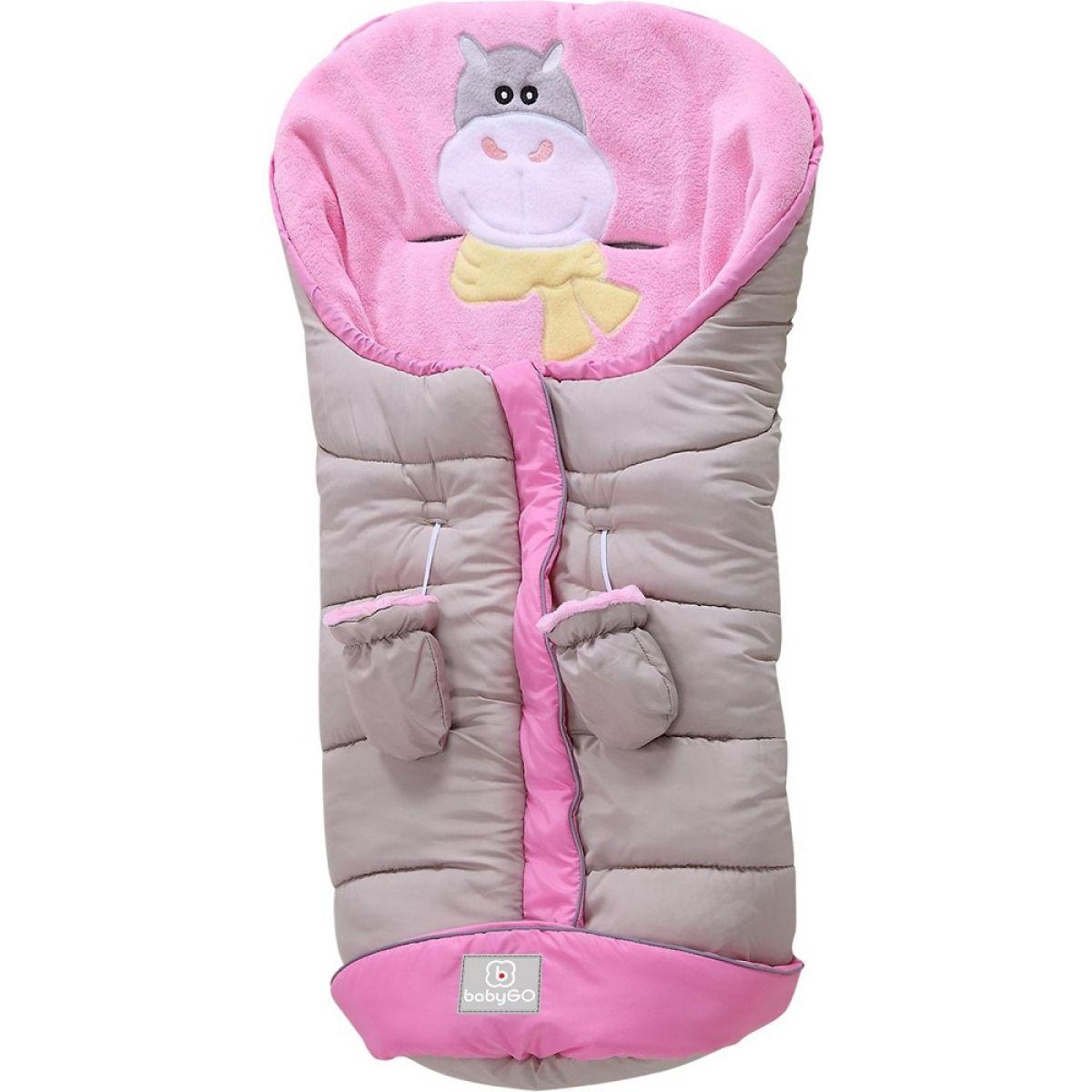 BabyGo fusak Hippo beige pink