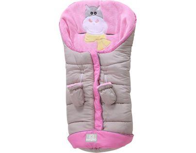 BabyGo fusak Hippo beige/pink