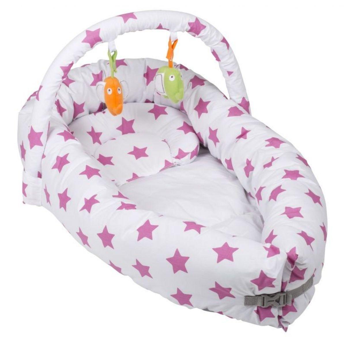 BabyGo hniezdočko Bettnest Pink