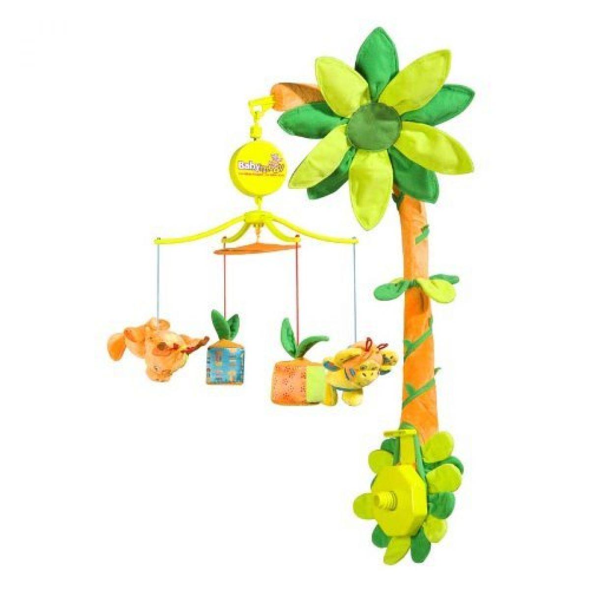 Babymoov hrající kolotoč jungle orange