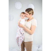 Babymoov mušelínové Mademoiselle Set 3ks biele/ružové/fialové 4