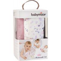 Babymoov mušelínové Mademoiselle Set 3ks biele/ružové/fialové 5